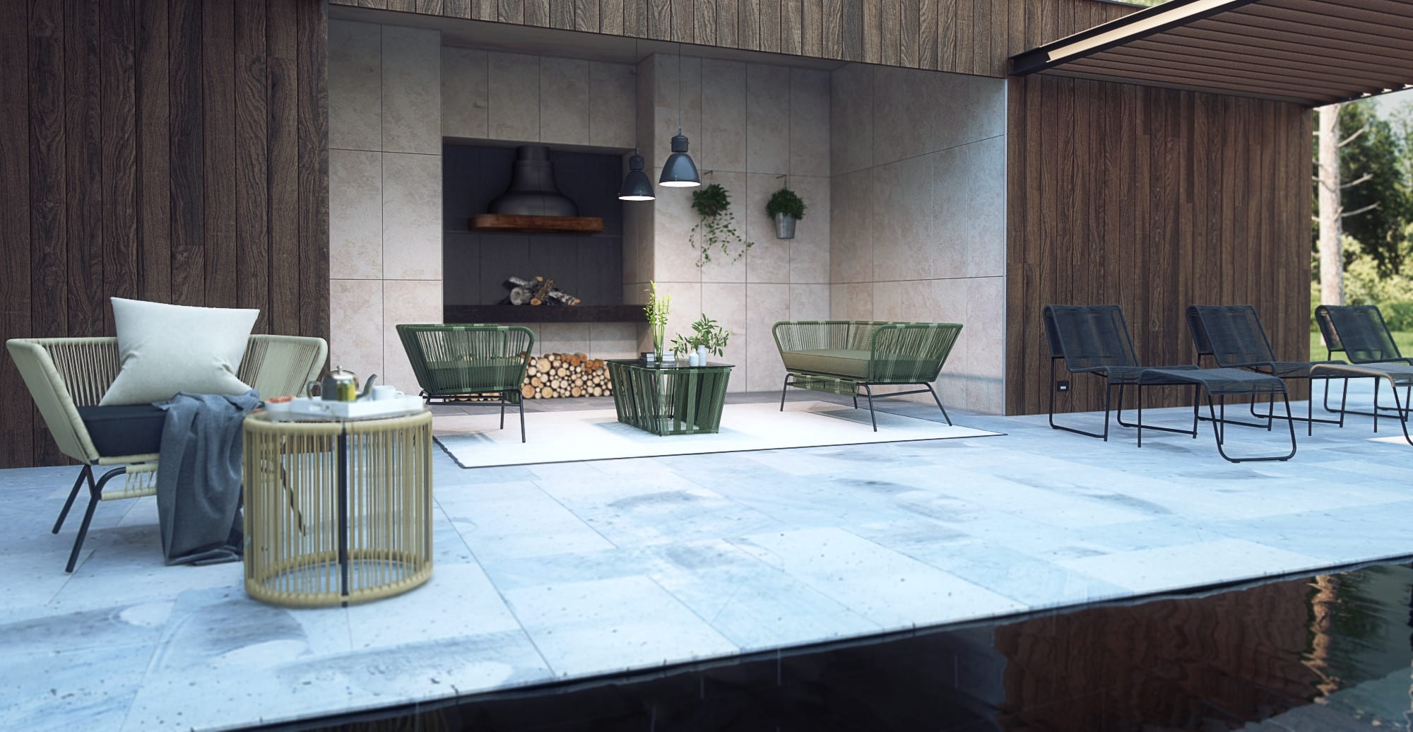 Small Outdoor Setting Part - 37: Small Tenerife 3 Piece Outdoor Setting 2x Dining ...