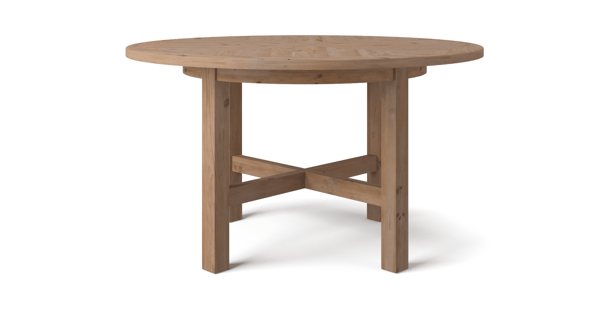 Outdoor round dining table - Chelmsford Round Dining Table Natural Pine Change