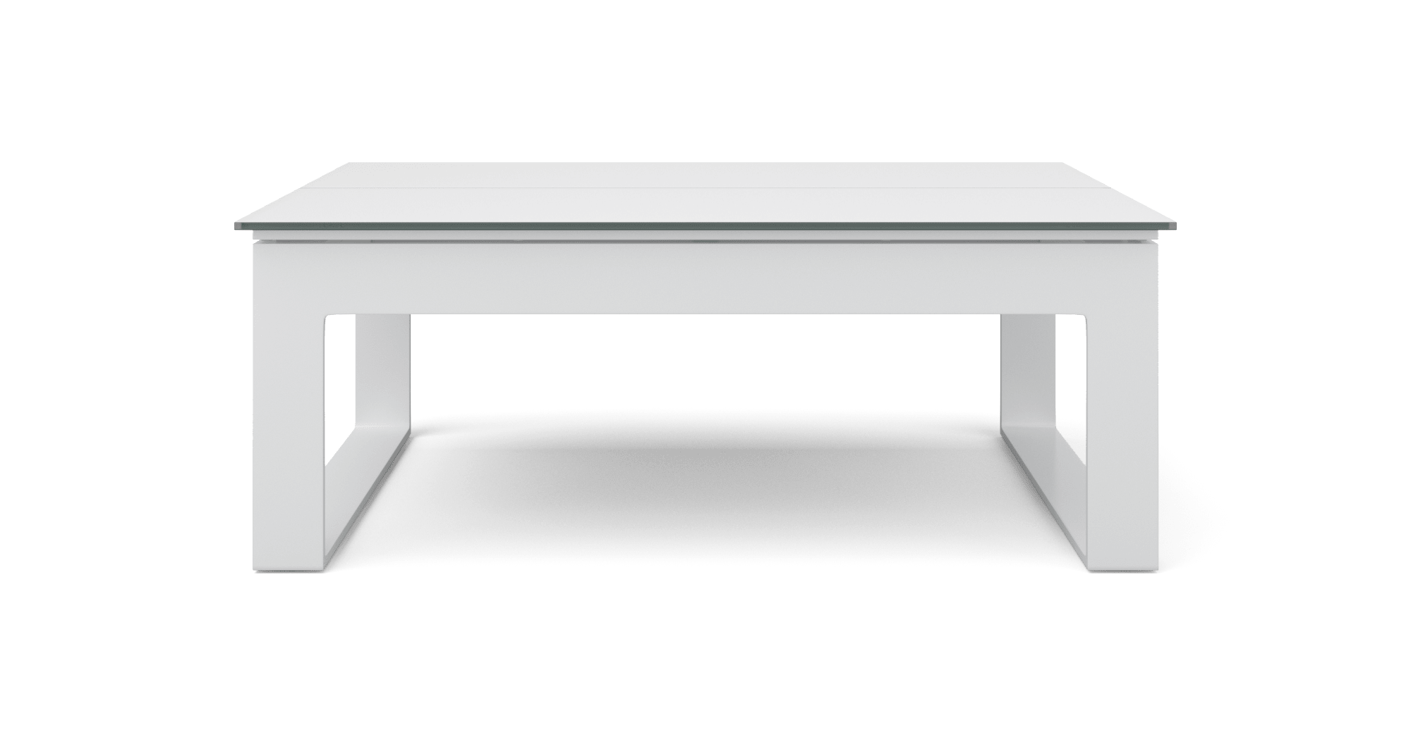 Airlie Outdoor Lift Top Coffee Table , Matte White Change