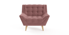 Pia arm chair blush pink