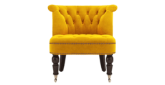 Helene velvet accent chair