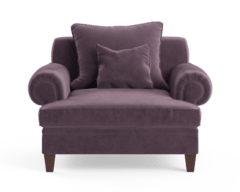 Mila velvet armchair purple