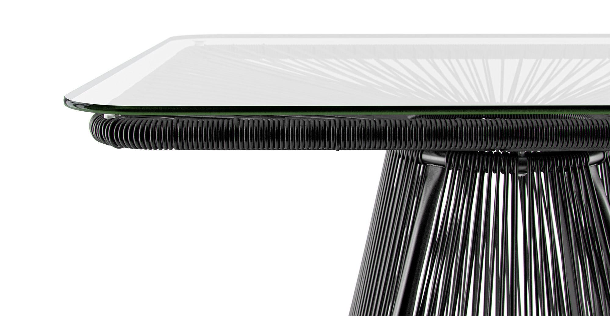 Black outdoor dining table - Lanzarote Outdoor Dining Table