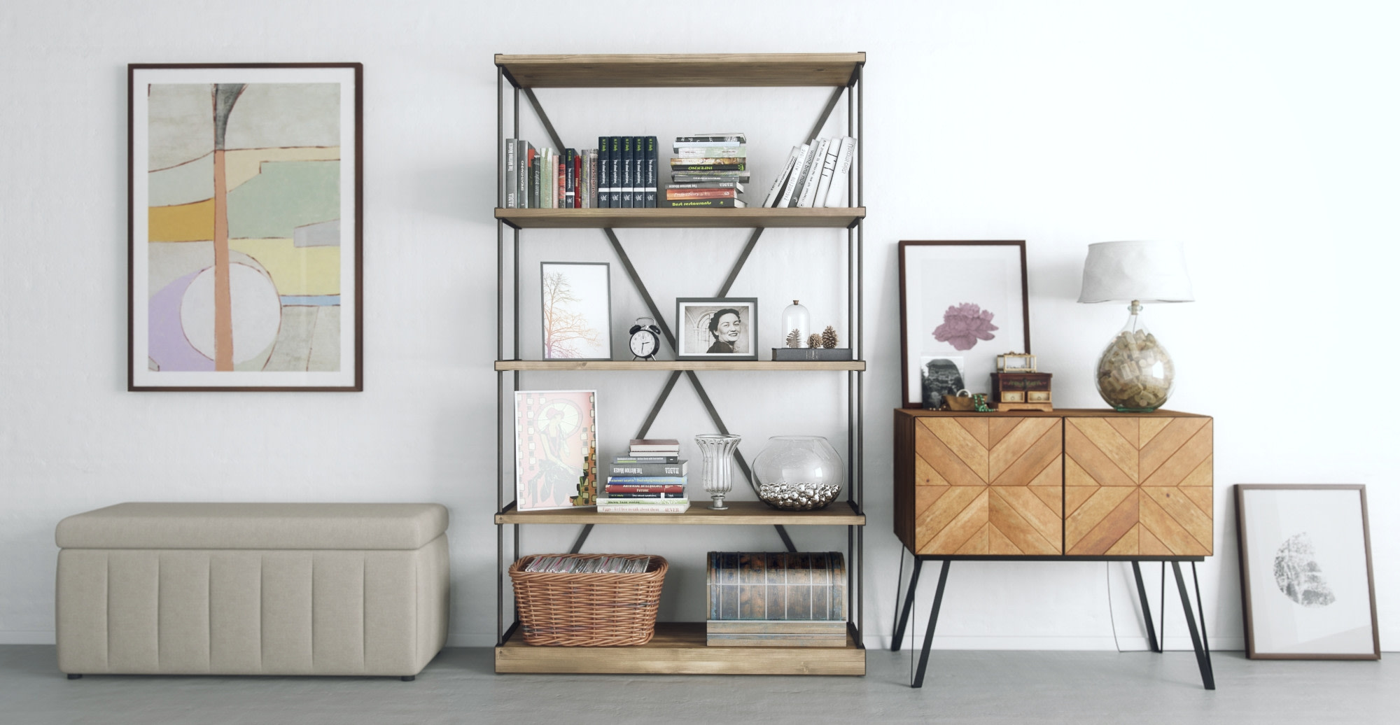 organise your bookcase symmetry