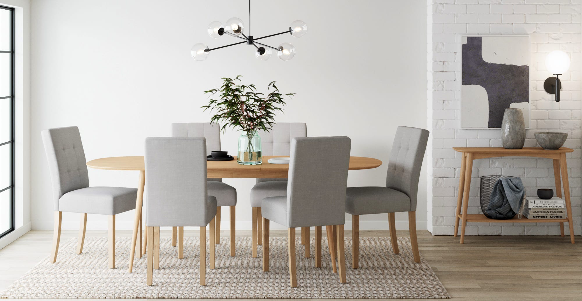 Jessica Set of 9 Dining Chairs