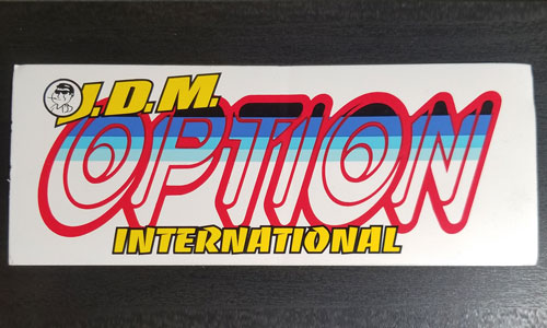 Option International sticker