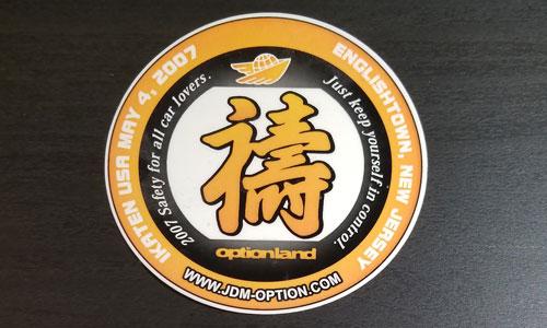 Option New Jersey 2007 Sticker