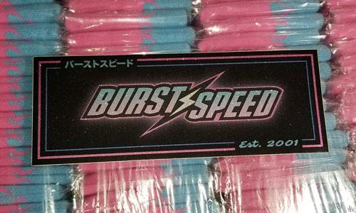 Burstspeed Box Logo Pink Sticker
