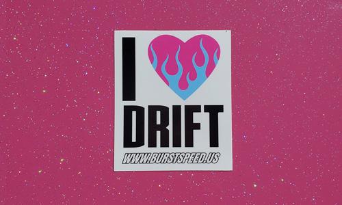 I Love Drift Sticker Small