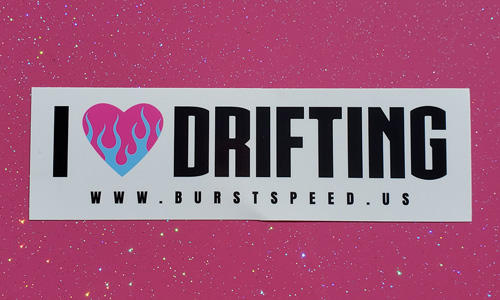 I Love Drifting Sticker Large