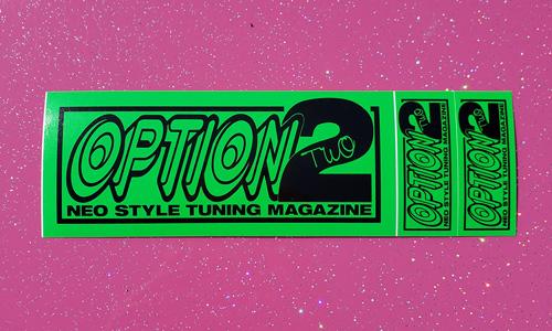 "Option Sticker Sheet - Green ""Neo Style"""