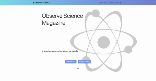 Observe Science Magazine website screenshot
