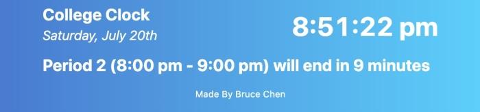 Screenshot of Clock App