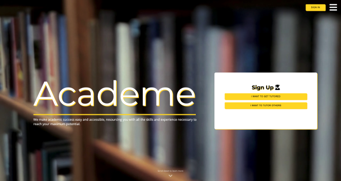 Academe website