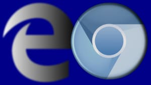 Logos for Microsoft Edge and Chromium