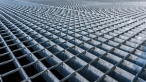 Abstract view of metal grid