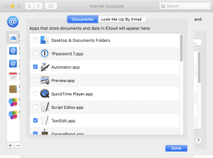 The iCloud Drive settings for macOS Catalina as of August, 2020
