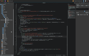 Screen shot of index.njk template in Nova code editor