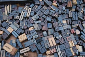 Letters for old-style typesetting