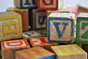 Colorful toy alphabet blocks