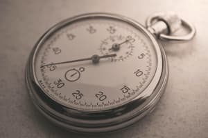 Sepia-tone photo of a stopwatch
