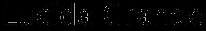 Lucida Grande typeface