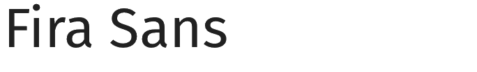 Fira Sans typeface