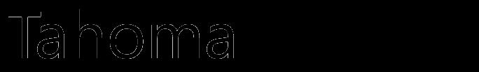 Tahoma typeface