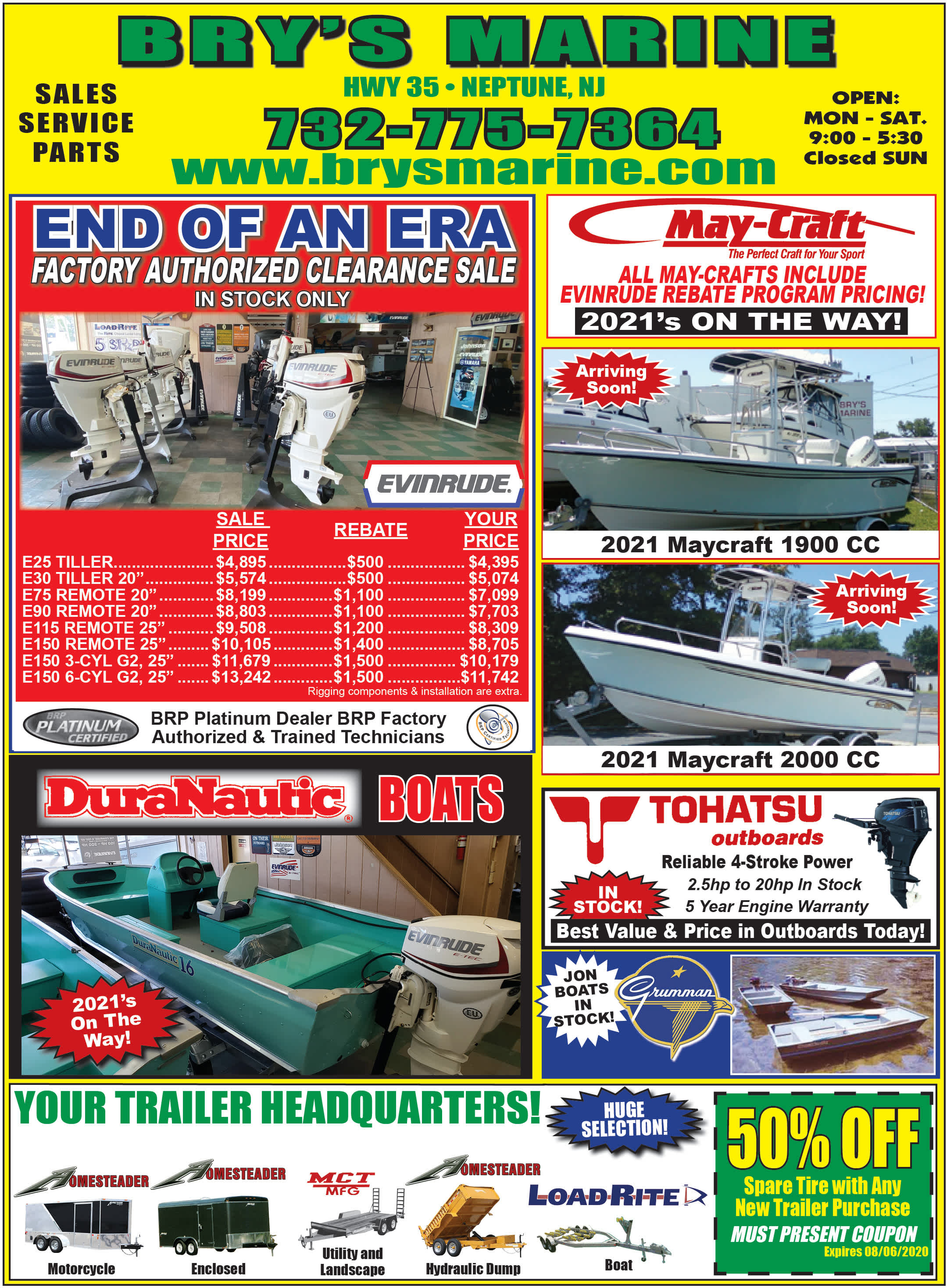 Bry's Marine current ad