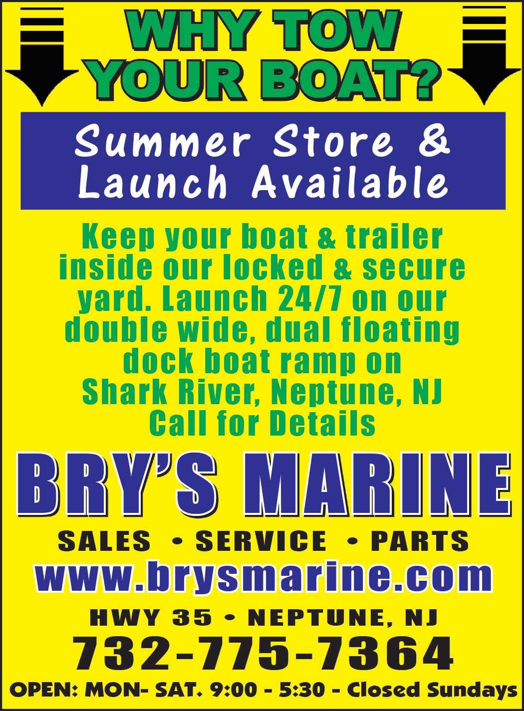 Bry's Marine special ad