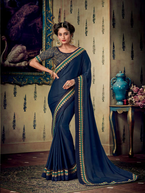PARTY WEAR SAREE ( ONLINE SAREE )