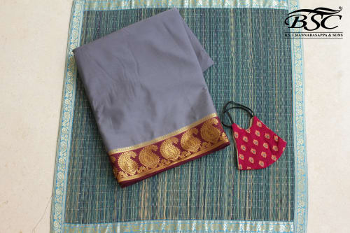 CREPE SILK SAREE (WITH MATCHING FANCY MASK)