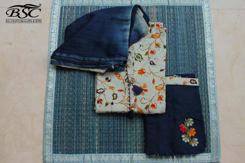 UNSTITCHED DRESS MATERIAL (SEMI STITCHED TOP)