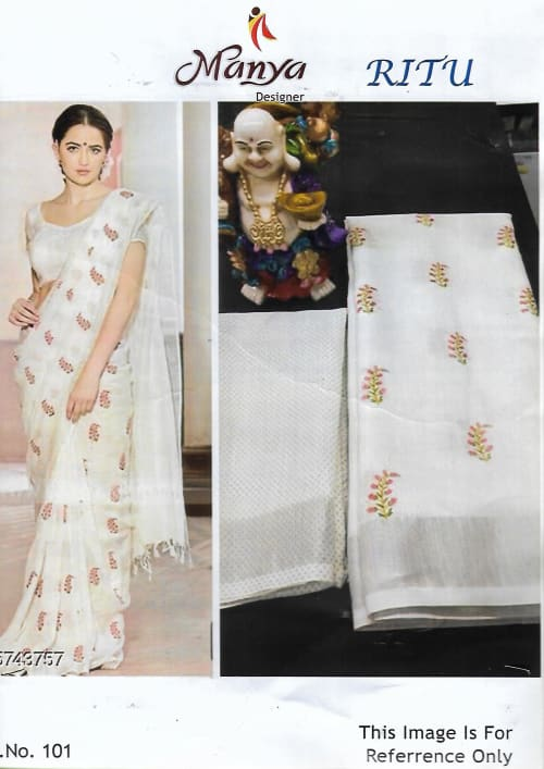 FANCY LENIN COTTON SAREE