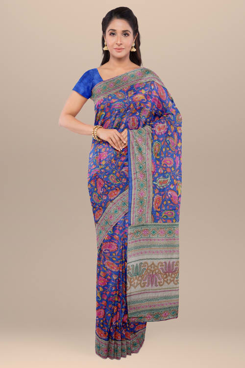FANCY ART WORK CREPE SAREE