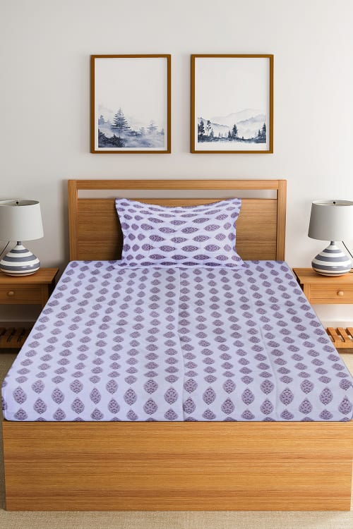 SINGLE BED SHEET WITH PILLOW COVER