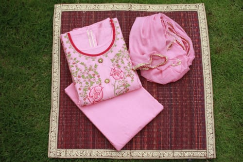 UNSTITCHED EMBROIDERY DRESS MATERIAL