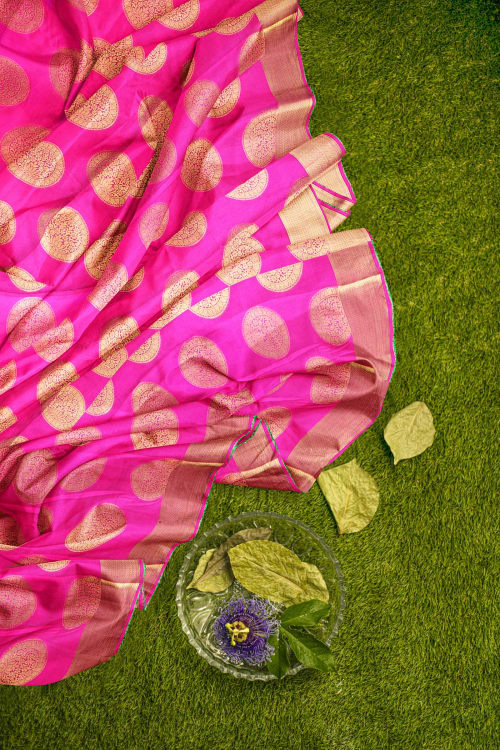 FANCY ART CREPE SAREE