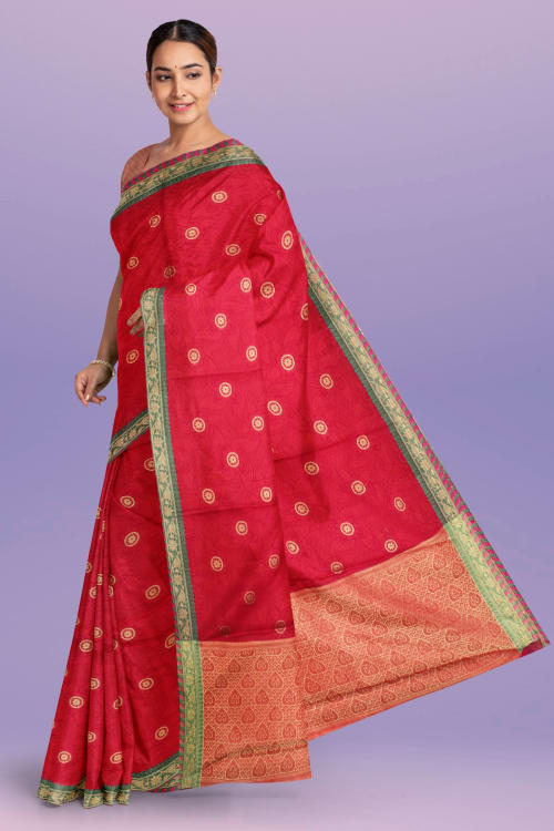 FANCY TANCHOI THREAD WORK SAREE