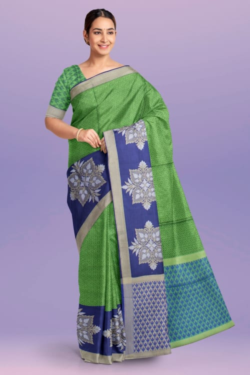 FANCY TANCHOI THREAD WORK SAREE cc802