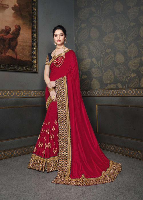 FANCY PARTY WEAR SAREE WITH MATCHING MASK