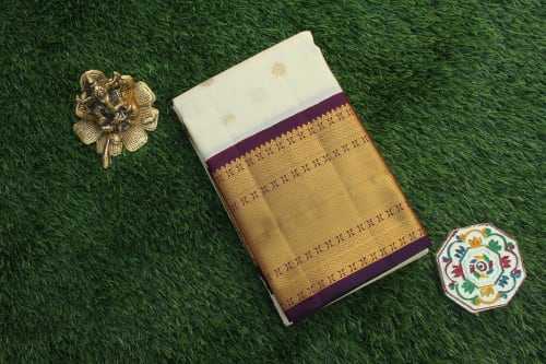 KANCHIPURAM MUHURTHAM PURE SILK SAREE