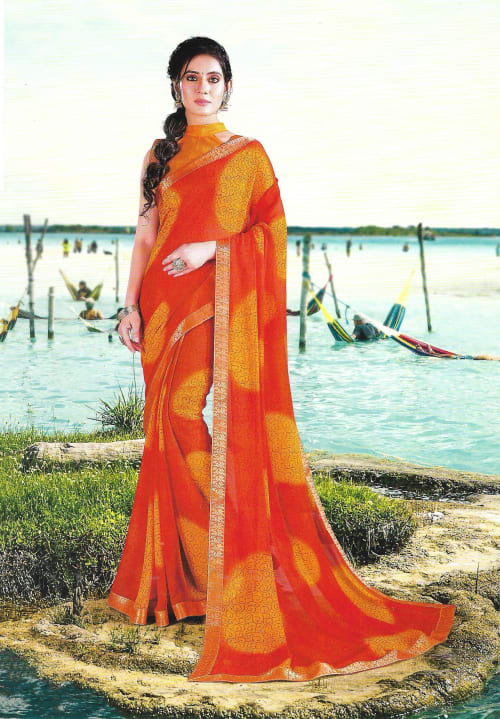 FANCY SYNTHETIC SAREE