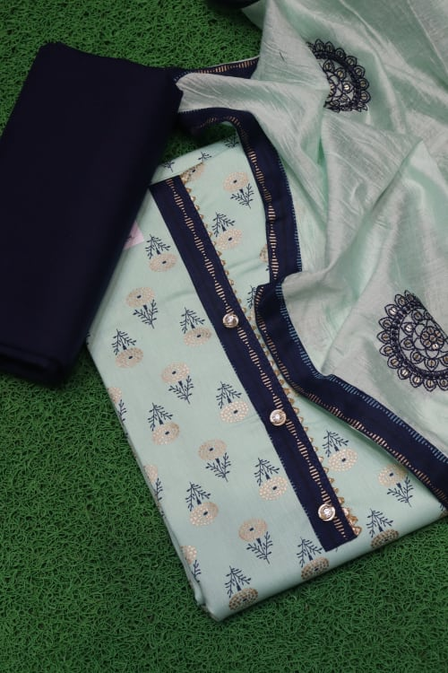 FANCY UNSTITCHED DRESS MATERIALS