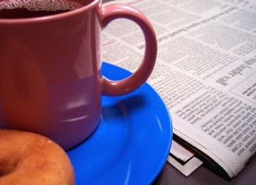 Coffee and the newspaper