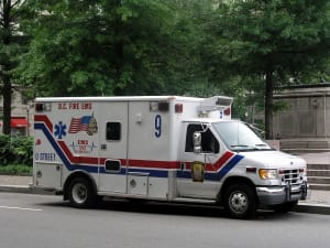 Hello Mr. and Mrs. Ambulance driver? Can I come with you? I think I'm having a heart attack.