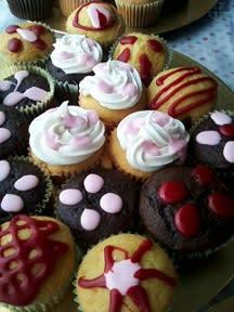 Take a cupcake. It's my birthday.