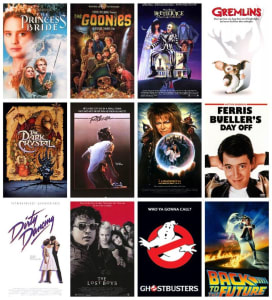 If you're a product of the 80's, chances are you've seen all of these movies.