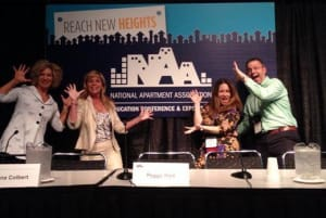 From the left, Donna Colbert, Peggy Hale, Ellen Thompson, and me. We crushed NAA with our great ZMOT talk.