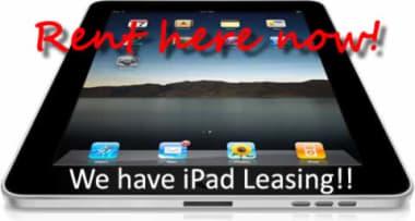 We have iPad leasing!!!!